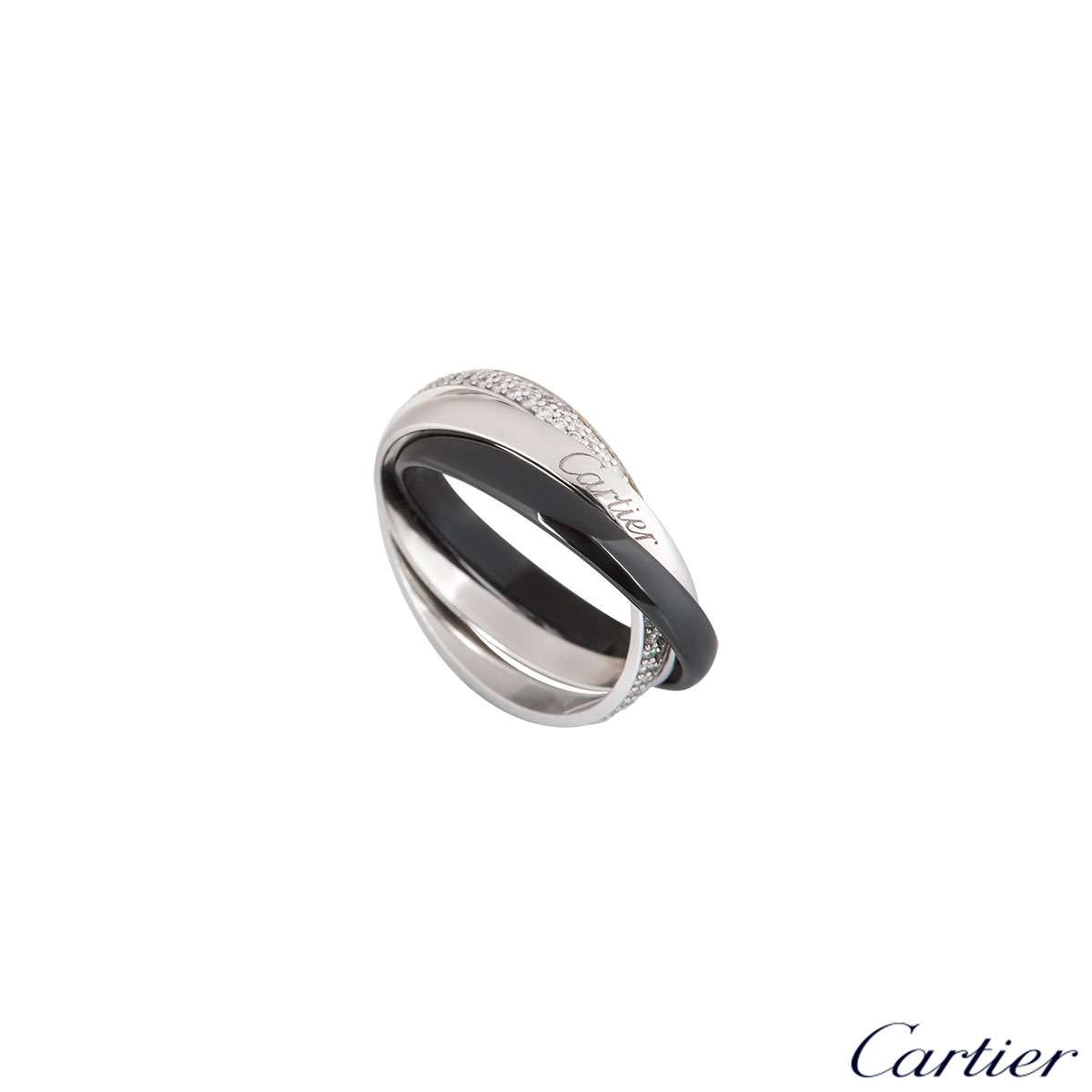 Cartier Trinity de Cartier Ring 18k White Gold and Ceramic B4095500